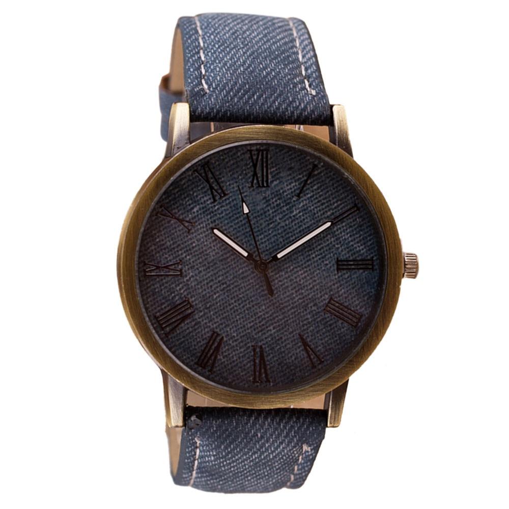 Timer Fashion Men Women WristWatch Cowboy PU Leather Band Woman Watches Quartz Watches Clock