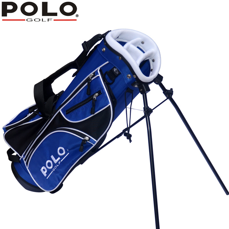 Polo Genuine Golf Cart Bag Child Support Ball Bag Portable and Light Golf Rack Bag 7-8 Clubs Container Anti-Friction 76cm 5Holes golf ball sample display case