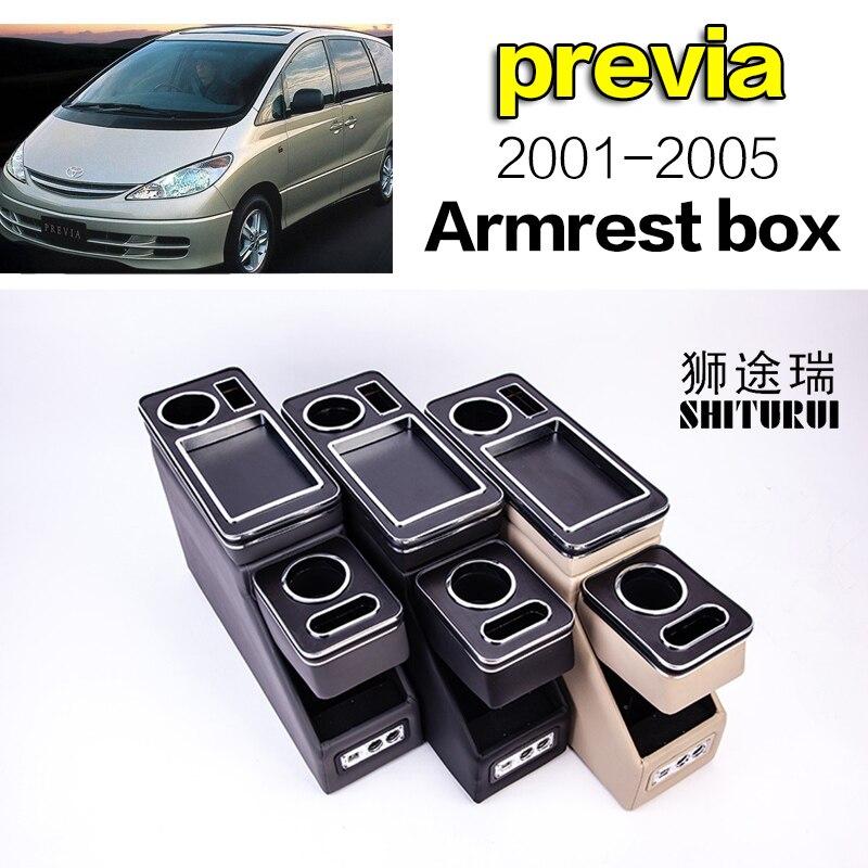 Pour Toyota previa 2001-2005 rangée avant garde-corps boîte ensemble affaires générales accoudoir central magasin voiture d'affaires 3th 15CM16CM