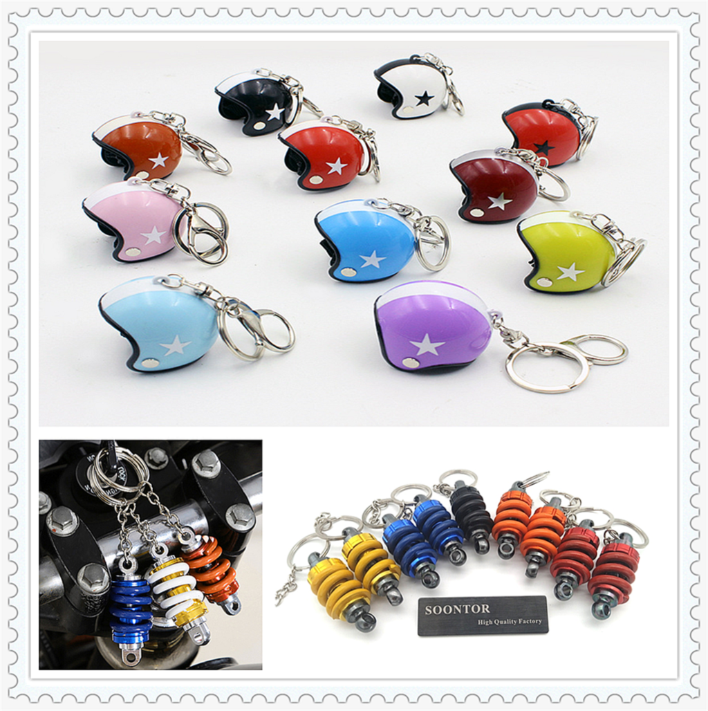 Motorcycle Safety Helmet Car Keychain key ring chain KeyRing Accessories for Ducati ST4 S YAMAHA YZ80 85 YZ125 1100 S EVO SP