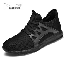 Men Casual Sports Shoes Lace-up Men Shoes Lightweight Running Sneakers Comfort Mesh Breathable Walking Sport Sneakers li ning men bubble ace super walking shoes breathable cushion lining comfort wearable sport shoes sneakers agcn005 yxb147
