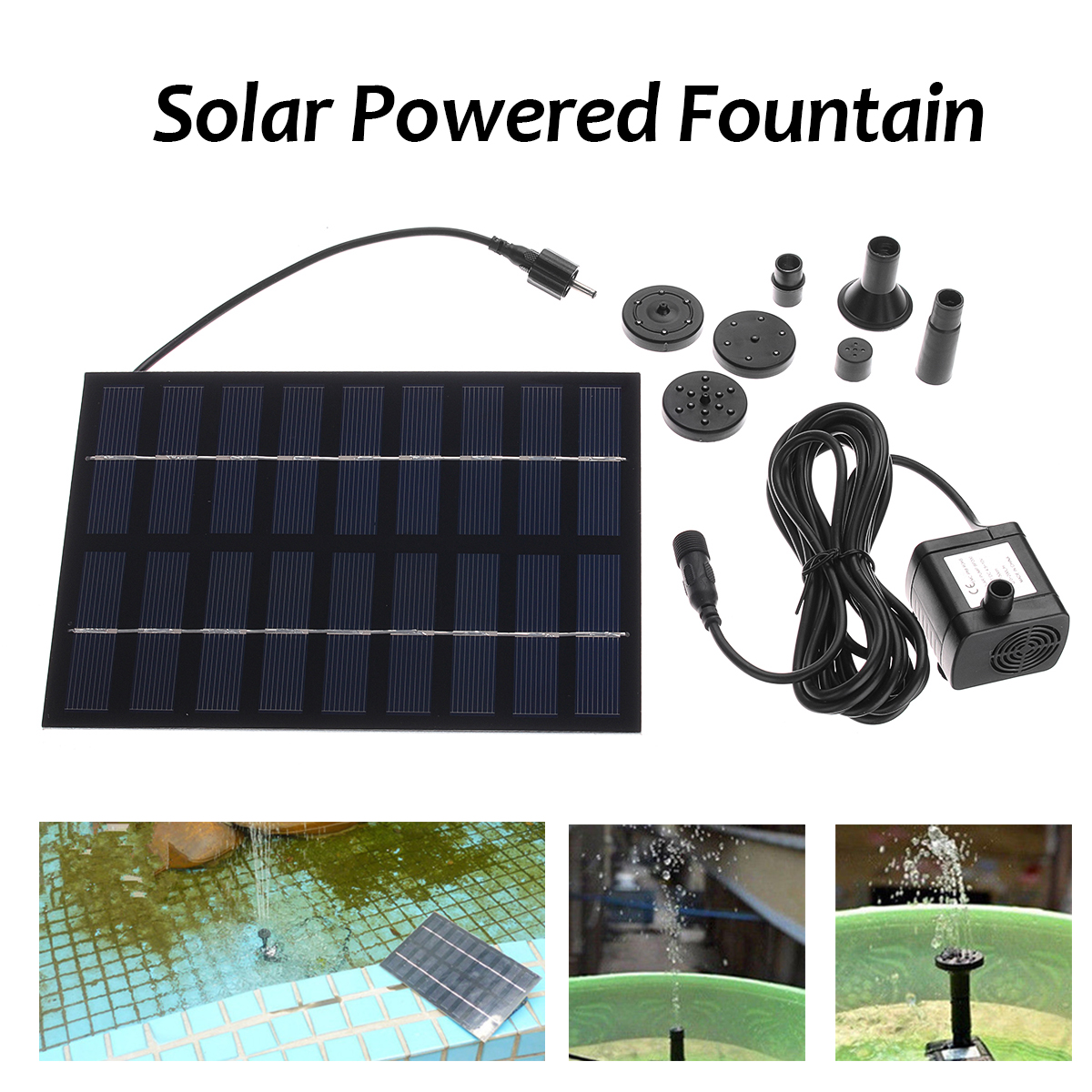 9V Solar Pump Solar Power Water Pump Panel Kit Fountain Pond Pool Water Garden Submersible Rockery Aquarium Water Pump free shipping clb 4500 submersible pump seafood keeper garden watering water cycle rockery pool drain