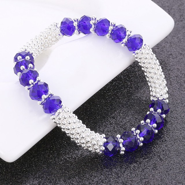 ZOSHI Bracelets & Bangles For Woman Zinc Alloy Part Crystal Beads Crystal Stone Charms Bohemian Elastic rope Crystal Bracelets