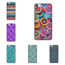 Jahit Merajut Crochet Cetak Tekstil untuk Samsung Galaxy Note 5 8 9 S3 S4 S5 S6 S7 S8 S9 S10 mini Edge Plus Lite TPU Asli(China)