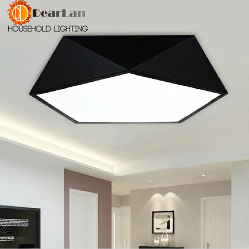 Здесь можно купить   Led Diamond Black/White Ceiling Lamp  To Absorb Dome Light LED Lamps Geometric Led Foyer Lamp Free Shipping(CF-50) Строительство и Недвижимость