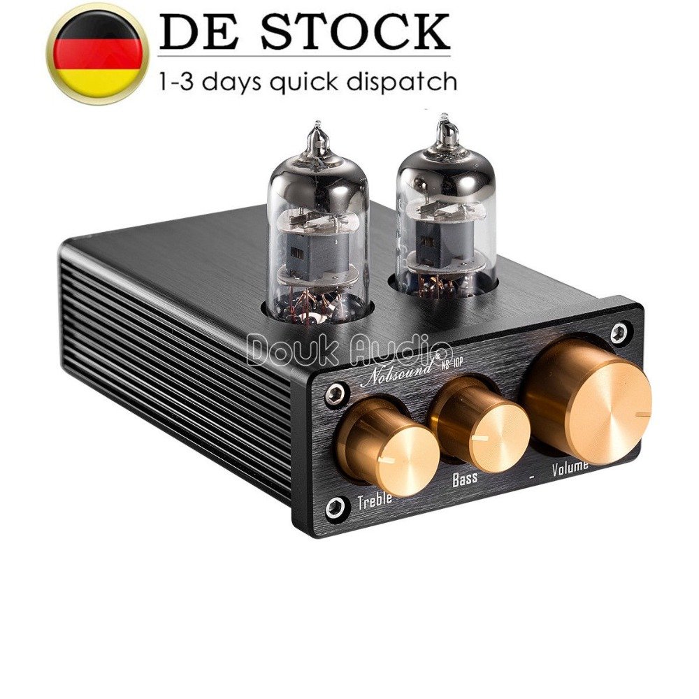 Nobsound NS-10P Mini 6J1 Vacuum Tube Preamp HiFi Audio Valve Pre-Amplifier With Treble&Bass Tone Control цены онлайн