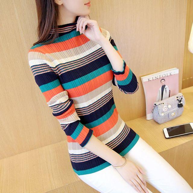 4363 barra de cuello alto suéter 51