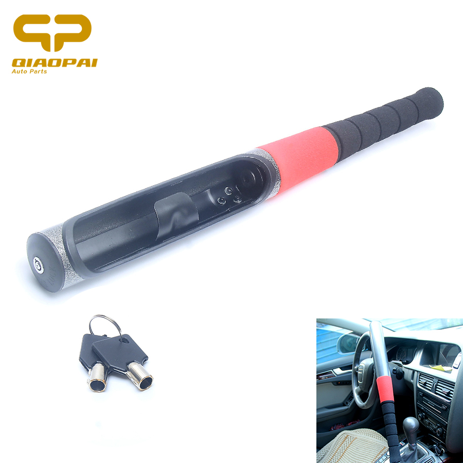 Universal Baseball Bat Steering Wheel Lock Baseball Anti theft Theftproof Broken Window Self-defense Key Lock Cylinder Car key