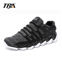 2019 New Style Men's Running Shoes Outdoor Walking Jogging Sneakers Lace Up Mesh Athletic Shoes Soft Light Running Shoes
