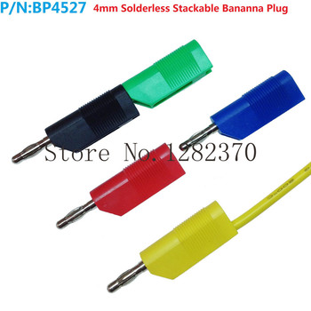 [SA] BP4527 quality copper-free welding large current high elastic tail 4mm banana plug connector can be superimposed  --100pcs/