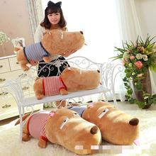 Free shipping 85 cm big lie prone to lie prone sleepy dog pillow stuffed dolls cute dogs lie prone to lie prone pillow doll girl