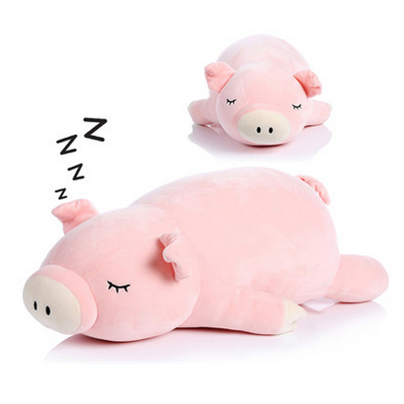 Fancytrader Big Soft Piggy Toys Plush Stuffed Animals Pig Toys Pink 75cm 30inch Nice Gifts and Pillow for Kids and Friends fancytrader 43 110cm huge lovely stuffed cute plush soft pig toy nice gift for kids and friends free shipping ft50385