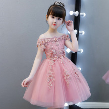 Girls Evening Dress Princess Dress Child Wedding Puffy Flower Girl Birthday Show Host Piano Costume цена