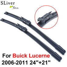 SLIVERYSEA Wiper Blades For Buick Lucerne 2006-2011 24+21 High Quality Iso9001 Natural Rubber Clean Front Windshield CPB1 qeepei front wiper blades for fiat ducato 2006 2016 pair 26 22 high quality natural rubber clean windshield wiper cpc114