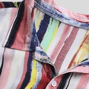 2019 Summer Shirt Men Beach colourful Shirts men women  Harajuku Loose cotton Hawaiian Short Sleeve High Quality Tops 2