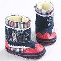 2016 Бесплатная Доставка Сапоги Новорожденных Девочек Рождество Снег Пинетки для Новорожденных Малышей Обувь Zapatos Sapatos Де Bebe