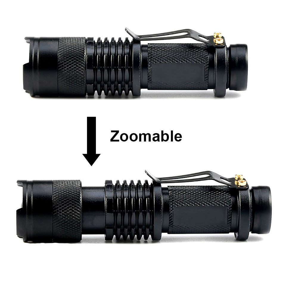 Mini Torch Led Light 500lm Cree Xpe Q5 14500 Zoomable Led Flashlight Camping Bicycle Light Led Lighting Lights & Lighting