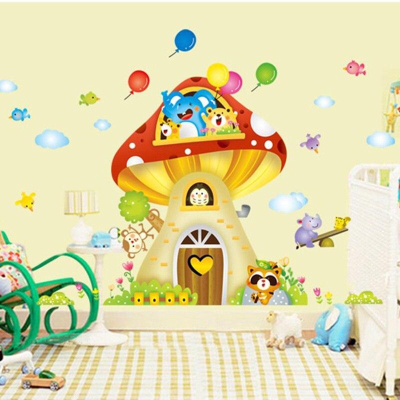 Diy nursery baby kids children home decor sofa decals stickers mushrooms vinyl wall sticke art - Home decor kids ...