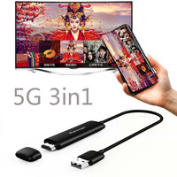 5G Wireless WiFi Display Dongle Smart TV HDMI Video Adapter for iPhone X XS MAX XR 5 6 7 8 for iPad Android Phone IOS to TV HDTV