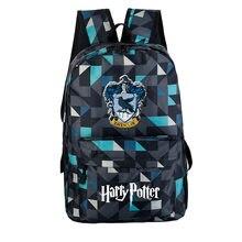 6d7fab73ea3f 2018 Гарри Поттер Хогвартс Ravenclaw Гриффиндор Печать Рюкзак Холст  Дорожные сумки Гарри Поттер школьные сумки Galaxy