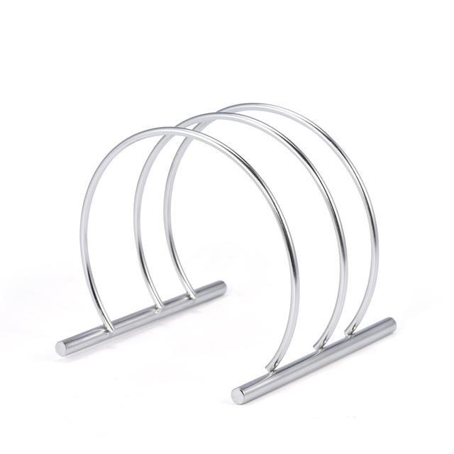 Stainless Steel 2 Tier Kitchen Storage Rack Apppliance Holder Knife Block Tools Cutting Board Holders Kitchen Organizer
