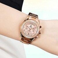 Red Rose Gold Women Watches Casual Dress Watch Women Ladies Wrist Quartz Watch With Gift Box