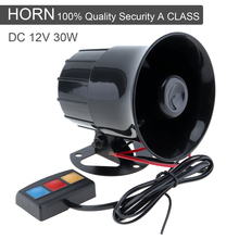 30W 12V 3 Car Emergency Siren Car Loud Siren Horn Sound Speaker 105db for Car / Motorcycle цены