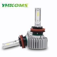YHKOMS Car Headlight H4 H7 LED 9005 HB3 9006 HB4 H8 H9 H11 80W 8000LM Auto