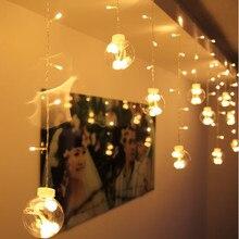 3 м* 0,65 м светодиодный светильник для занавесок Новогодняя Рождественская гирлянда Сказочный светильник s украшение для свадебного окна светодиодный светильник
