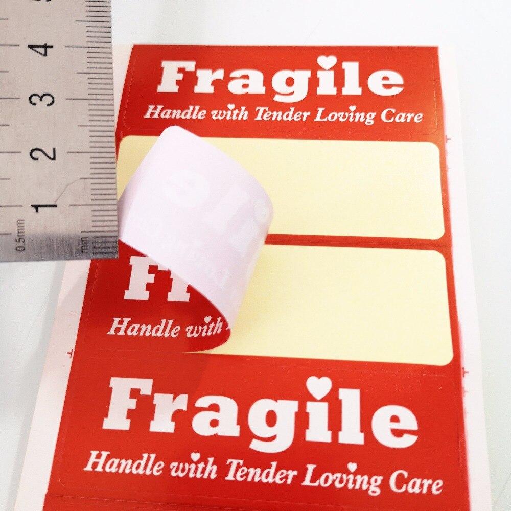 300 stks 76x25mm breekbaar handvat me met liefdevolle verzorging label sticker voor pakket bescherming item no ss40 in 300 stks 76x25mm breekbaar handvat