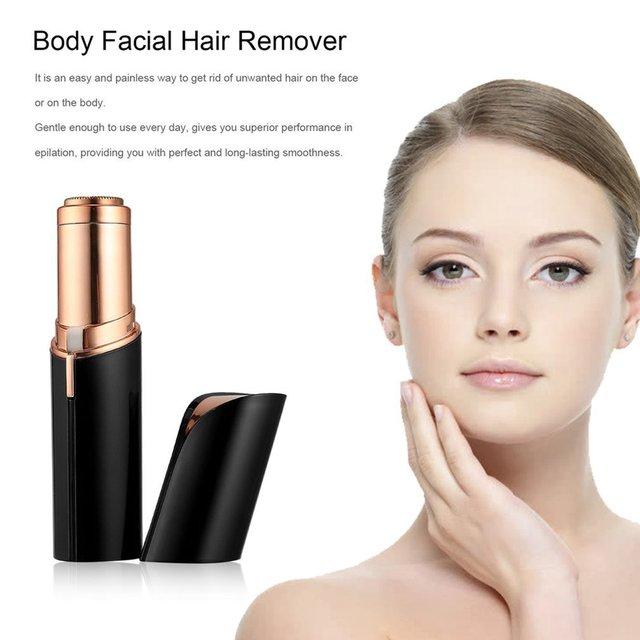Mini hembra depilación de cuerpo de las mujeres cara Eléctrica forma lápiz  labial de afeitar herramienta ad839c26e021