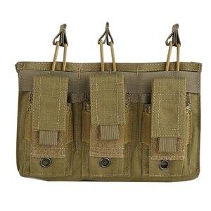 Image 4 - Новая 1000D нейлоновая Военная Пейнтбольная Экипировка, тактическая три открытых топа сумка для журнала, быстрая AK M4 Famas сумка для хранения