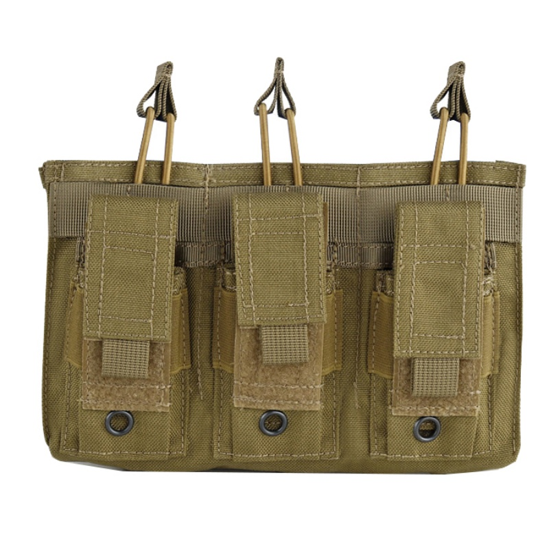 Image 4 - New 1000D Nylon Military Paintball Equipment Tactical Three Open Top Magazine Bag Fast AK M4 Famas Storage Bag-in Pouches from Sports & Entertainment