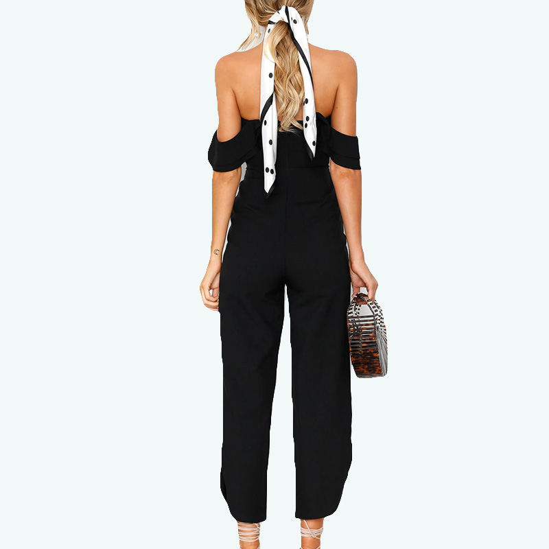 Body Feminino New Promotion Polyester Casual Jumpsuit Women Body 2018 Spring Europe And America Sexy Wrapped Halter for Onesies