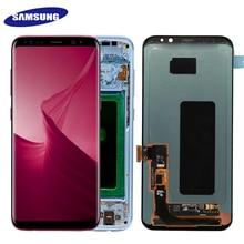 Super AMOLED Dành Cho Samsung Galaxy Samsung Galaxy S8 S8 Plus G955f G950F G950U G950FD Đốt Cháy Trong Bóng Màn Hình LCD Hiển Thị Màn Hình Cảm Ứng bộ Số Hóa Có Khung