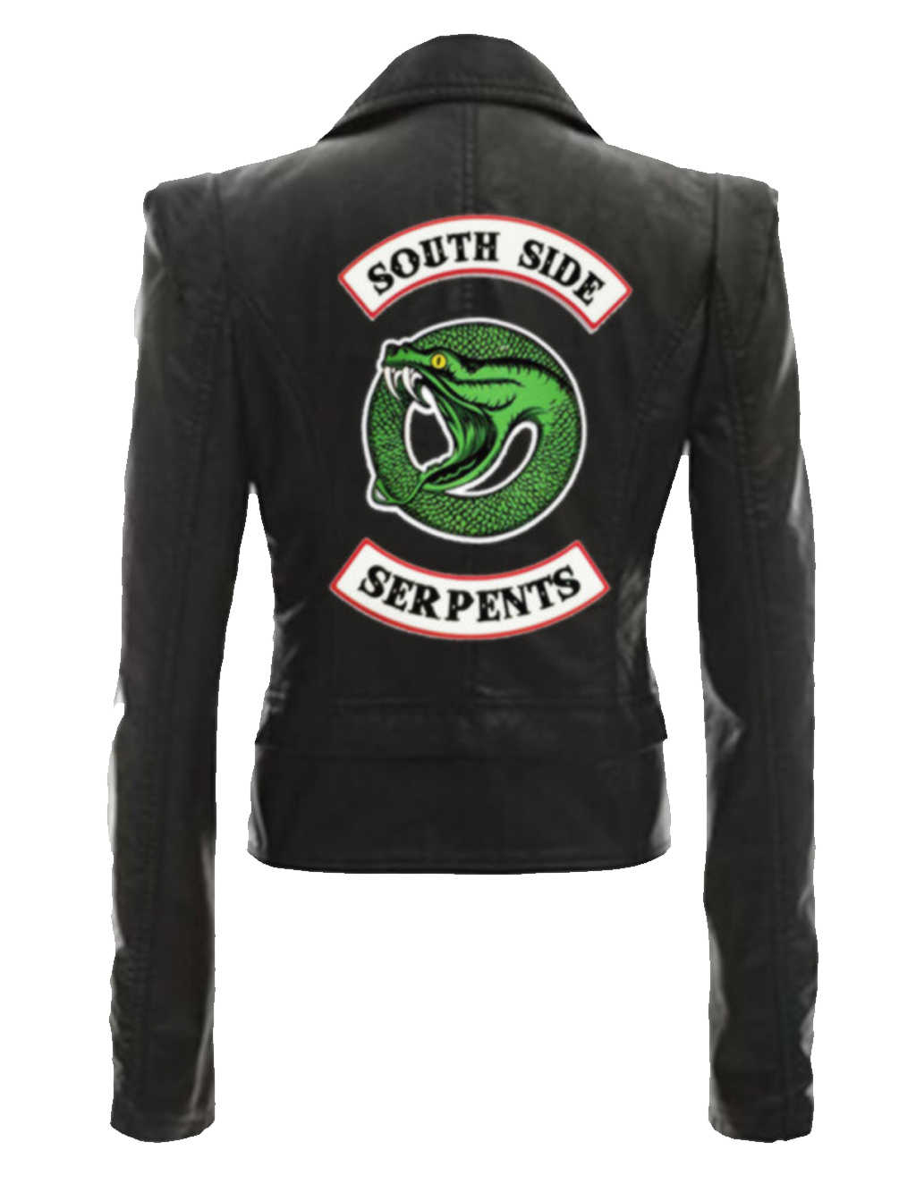 New River Valley Town Viper Snake Lady PU Leather Jacket Riverdale American Drama Jacket Slim Short PU Leather Jacket