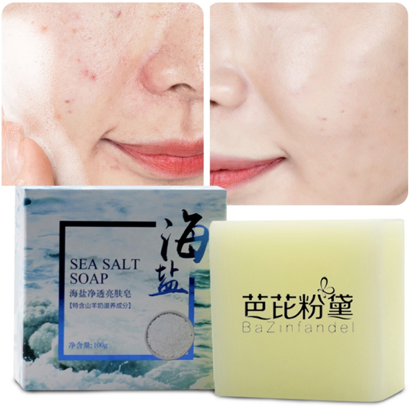 Sea Salt Soap Cleaning Skin Anti-mite Oil-control Firming Skin Facial Cleansing Handmade Soap