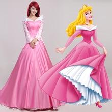 Cosplay de la bella durmiente princesa aurora dress party fancy mujeres dress rose princess dress costume n346300