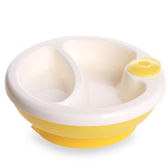 Bebê de segurança de assistência de manter quente do com sucção tigela bebê talheres pratos