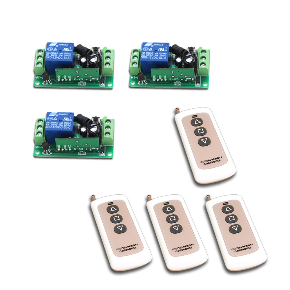 DC 12V 24V Wireless Remote Switch 10A Remote Control Switch Teleswitch Radio Control Switch Relay Transmittter 315Mhz 433Mhz 315 433mhz 12v 2ch remote control light on off switch 3transmitter 1receiver momentary toggle latched with relay indicator