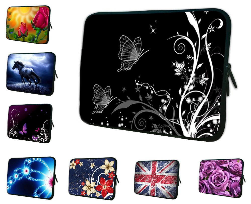 White Elegant Flower Butterfly Laptop Bag Sleeve Case For iPad Mini Soft Tablet Cover 7 7.7 7.9 8inch For Xiaomi Yi Asus Nexus 7 high quality 10 25 4cm colorful hard netbook laptop sleeve case bag for ipad 2 3 4 5 6 sleeve bag