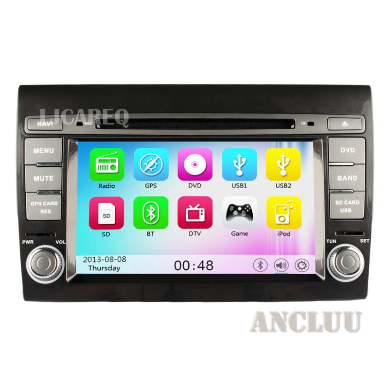7 inch Car DVD GPS For Fiat Bravo 2007 2008 2009 2010 2011 2012 Car Stereo Radio Navi with <font><b>bluetooth</b></font> 3g WiFi free map canbus