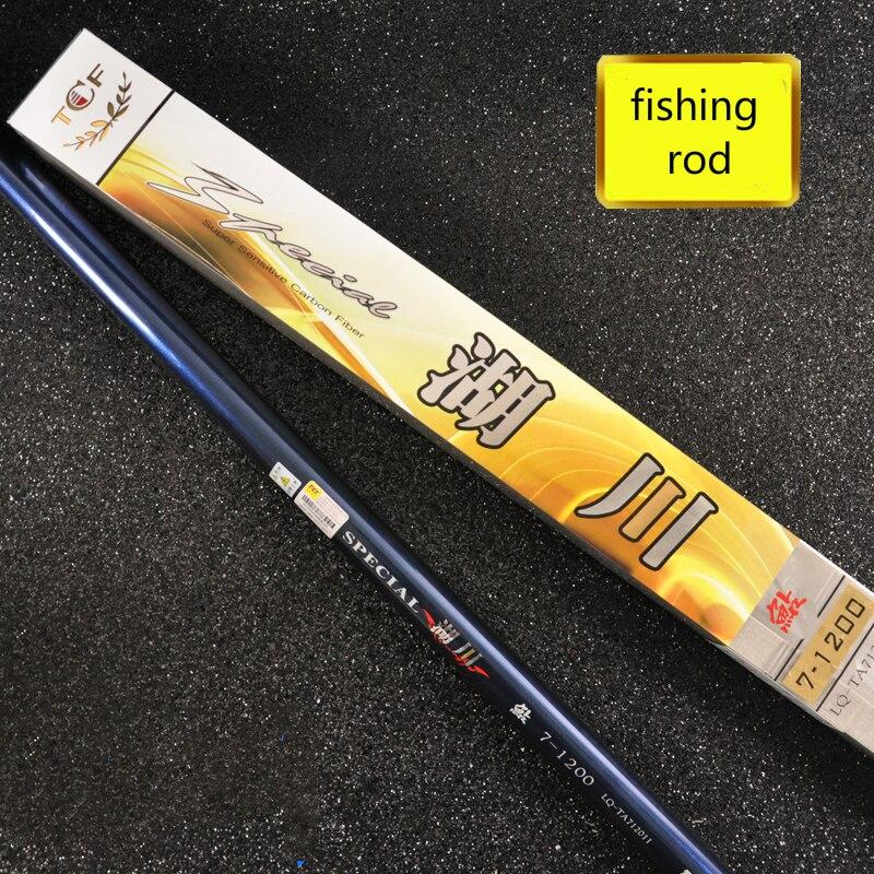 1 pcs/Lot canne à pêche lac/étang/rivière canne à pêche super dur en carbone main canne à pêche 8/9/10/11/12/13 m Taiwan pôle de pêche