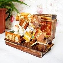 Retro and vintage wooden music box music box Christmas gift birthday gift their boyfriend or girlfriend