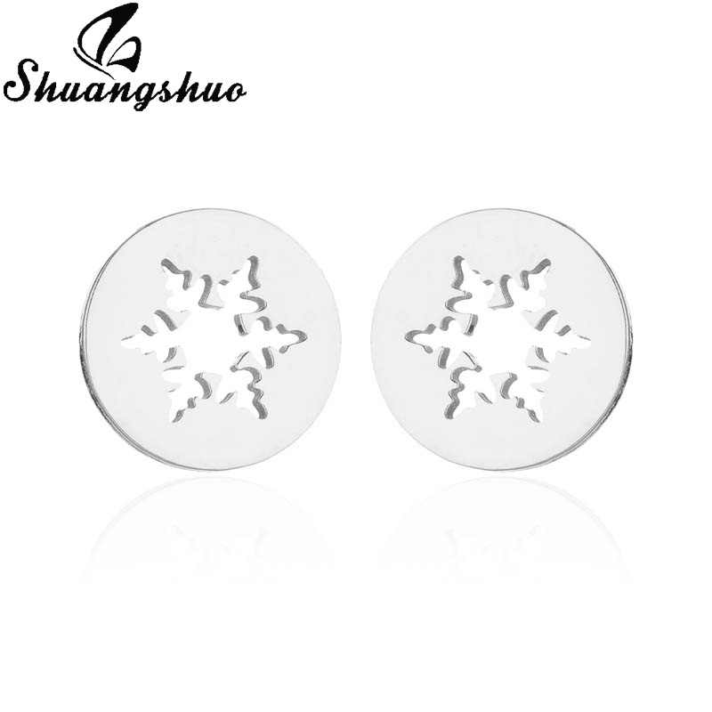 Shuangshuo เกล็ดหิมะต่างหูต่างหู Ear Stud เครื่องประดับ oorbellen orecchini aretes boucle d'oreille pendientes
