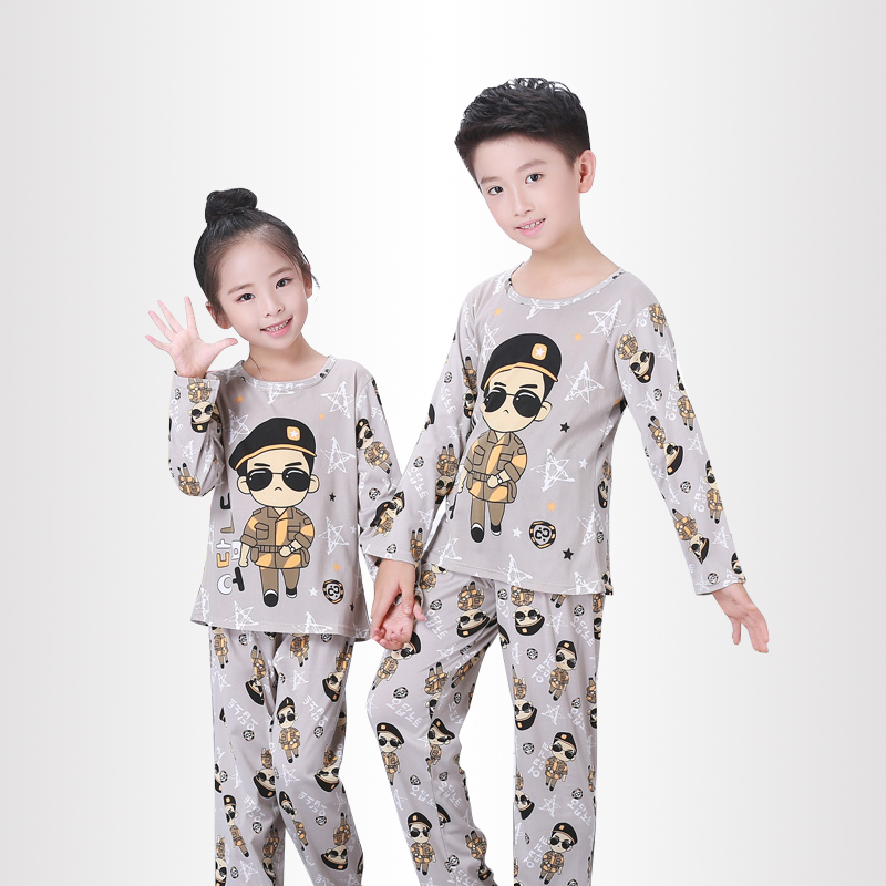 Cartoon Children long Sleeve Pajamas Boy Girl autumn sleepwear Baby nighty Suit Child bedgown Clothes kids lovely pyjamas suit girl