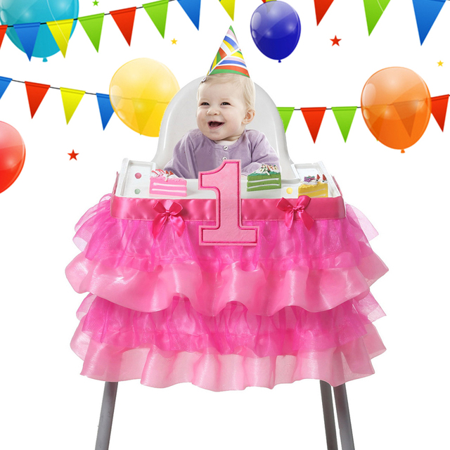 915x35cm Tulle Tutu Table Skirt Baby Shower One Year Old Birthday Decoration Party Chair Kawaii Cover Home Hotel Decor Supplies