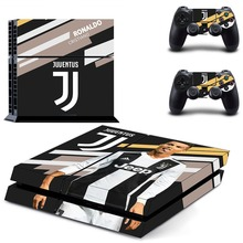 Juventus Cristiano Ronaldo PS4 Skin Sticker Decal for Sony PlayStation 4 Console and 2 Controller Skin PS4 Sticker Vinyl
