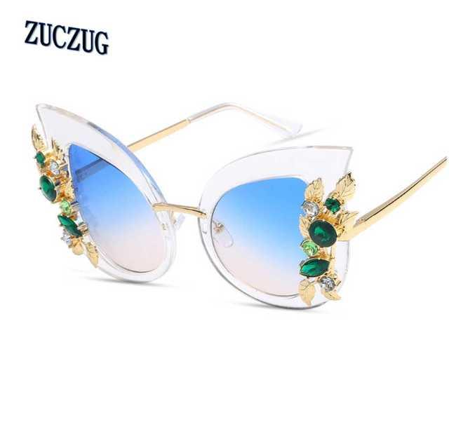 be2b13e6ec GIRL Women Cat Eye Sunglasses Vintage Brand Designer Crystal Diamond  Oversize Frame Ladies Sun Glasses Oculos