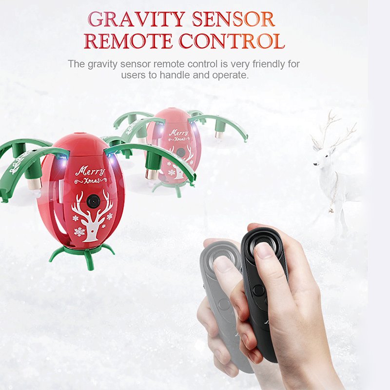JJRC H66 X-mas Egg 720P WIFI FPV Drone With Gravity Sensor Mode Altitude Hold RC Quadcopter RTF for Christmas gift original jjrc h28 4ch 6 axis gyro removable arms rtf rc quadcopter with one key return headless mode drone